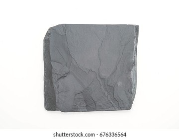 Slate plate isolated on white background