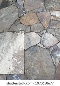 Slate Rock Walkway Background