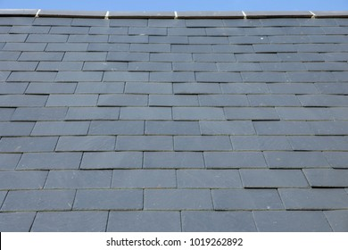 Slate roof tile pattern