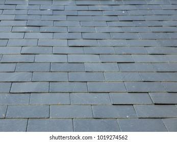 Slate roof tiles full frame