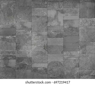 Slate tile ceramic, seamless texture light gray map for 3d graphic.