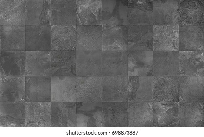 Slate tile ceramic, seamless texture square dark gray map for 3d graphics