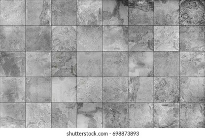 Slate tile ceramic, seamless texture square light gray map for 3d graphics
