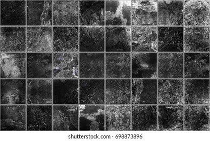 Slate tile ceramic, seamless texture square black map for 3d graphics