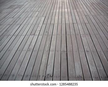 Slatted floor with wood