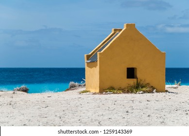 Slave huts historical monument on Bonaire, Dutch Caribbean