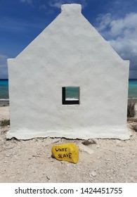 The slave huts on Bonaire. This is where the slaves had to sleep while sitting as this tiny box like hut was used for 7 to 8 people.