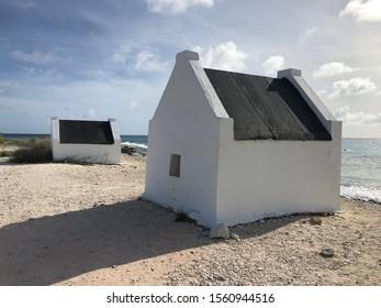 slave huts at the salt lake of Bonaire