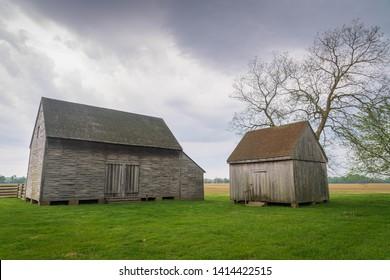 "Slave quarters at John Dickinson's Plantation the ""Penman of the Revolution"""