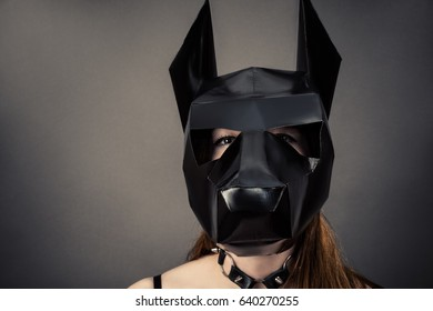 slave woman in dog mask