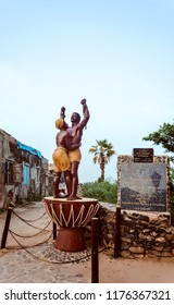 Slavery Freedom Monument at the Maison des Esclaves Memorial, Goree island, Senegal. GOREE/SENEGAL - September 11, 2013