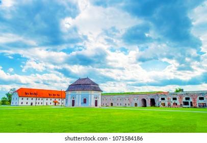 Slavonski Brod, Croatia - June 17, 2017: Military fort in Slavonski Brod, slavonia region