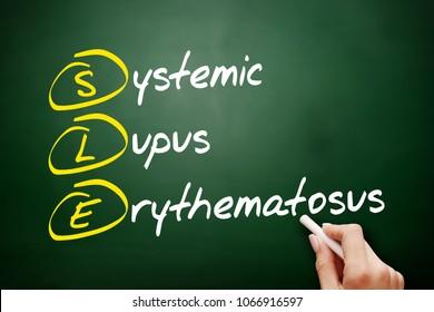 SLE - Systemic Lupus Erythematosus acronym, concept on blackboard