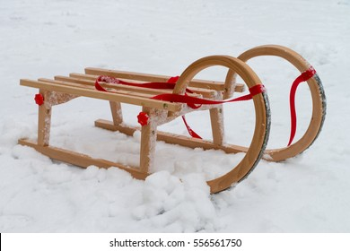 Sled in the snow