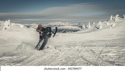 sled wheelie at revelstoke