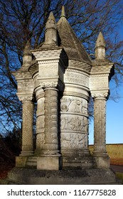 Sledmere. England. 01.21.09. This memorial is alongside the B1253 through Sledmere in the east of Yorkshire, England. It is a memorial to the men of the Waggoner's Reserve.