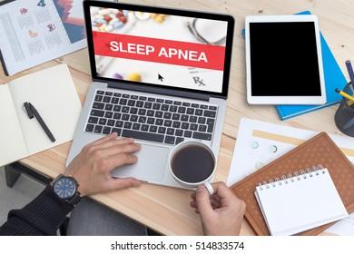 SLEEP APNEA CONCEPT ON LAPTOP SCREEN