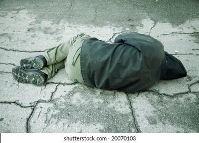 sleep on the street