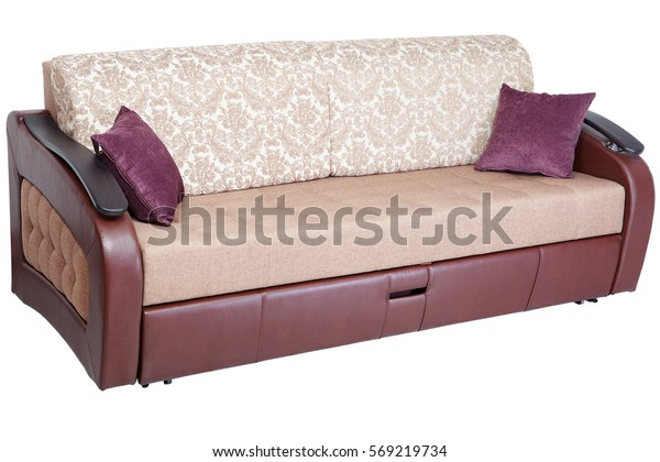 Sleeper Convertible Sofa Bed Couch Storage Stock Photo (Edit ...