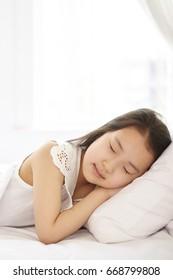 Sleeping Asian girl
