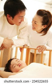 Sleeping Baby, Father and Mother