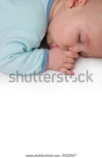 Sleeping Baby Sucking Thumb