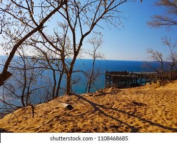 Sleeping Bear Dunes in Michigan, USA