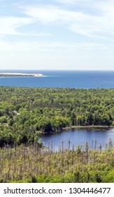 Sleeping Bear Point and Lake Michigan
