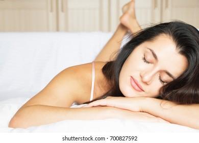 Sleeping beautiful girl