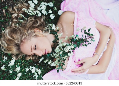 Sleeping Beauty In The Garden