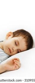 The sleeping boy