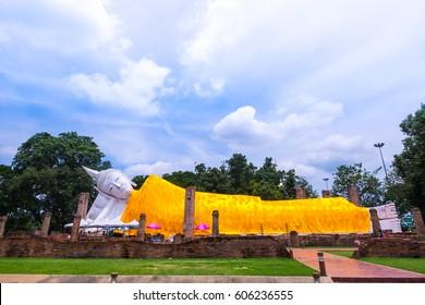 Sleeping buddha outdoor ,thailand.