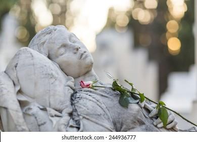 Sleeping Female Figure sculpture