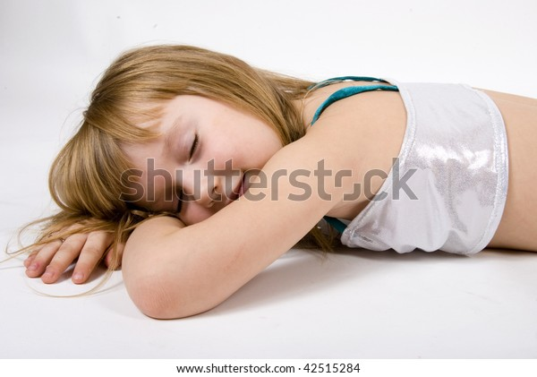 sleeping girl on the floor