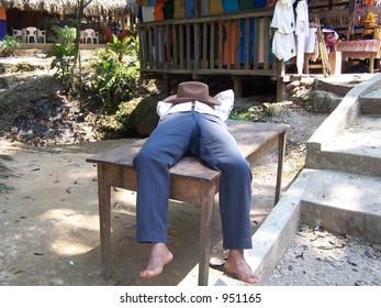 Sleeping man. Mexico