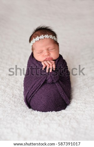 Sleeping Nine Day Old Newborn Baby Stock Photo Edit Now 587391017