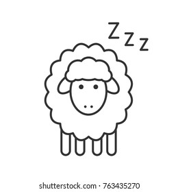 sleeping sheep coloring pages - photo#25
