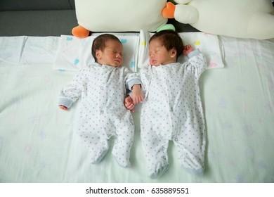 Sleeping Twin boys