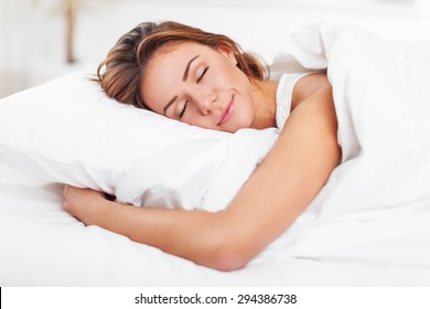 Sleeping, Women, Bed.