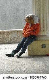 Sleeping worker in Macau