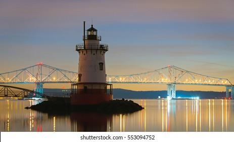 Sleepy Hollow Lighthouse at night