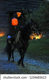 Sleepy Hollow, NY, USA October 17, 2009 Headless Horseman Rides in a Halloween festival in Sleepy Hollow, New York
