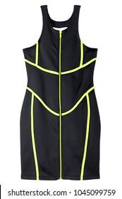 Sleeveless Neoprene Zipper Dress