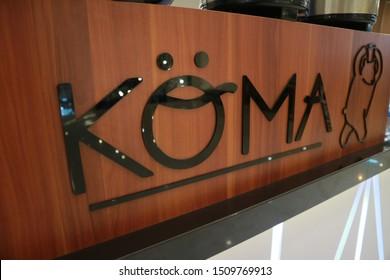 Sleman, Yogyakarta / Indonesia - September 20, 2019: Koma, popular cheese tea brand from Korea. Most fafourite drink in Indonesia