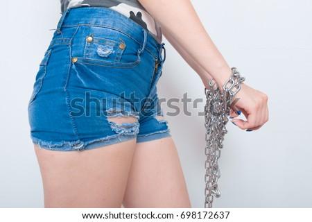 Sorry, Short jean shorts ass that