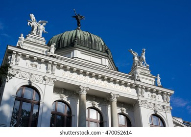 Slezske zemske muzeum ( Silesian national museum ), Opava, Silesia, Czech Republic / Czechia - public institution and its beautiful building made in neo-renaissance style