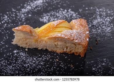 slice of a bavarian apple pie