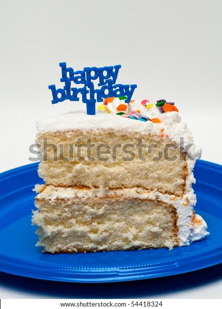 Sensational Slice Birthday Cake Stock Photo Edit Now 54418324 Personalised Birthday Cards Paralily Jamesorg