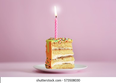 Prime Colorful Cake Slice Stock Photos Images Photography Shutterstock Personalised Birthday Cards Paralily Jamesorg