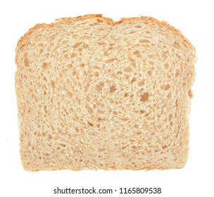 slice bread isolated on white